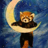 Red Panda Stars Art Prints & Posters by Michael Creese
