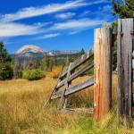 """Broken Fence And Mount Lassen"" by jameseddy"