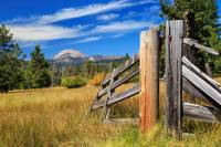 Broken Fence And Mount Lassen