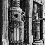 """Vintage Wine Press BW"" by jameseddy"