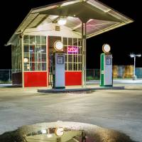 Gas Station Reflection Art Prints & Posters by James Eddy
