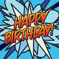COMIC BOOK HAPPY BIRTHDAY! BLUE