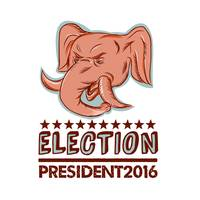 Election President 2016 Republican Elephant Mascot