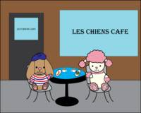 French Dogs at a Cafe