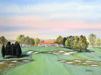 Bethpage Golf Course 18th Hole Painting