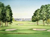 Southern Hills Golf Course Painting