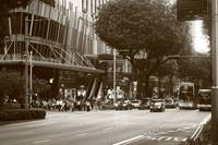Street of Singapore in  Monochrome, Orchard Road