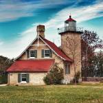 """Eagle Bluff Light, Door County Wisconsin"" by RedfoxCreations"
