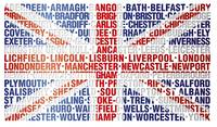 UK CITY NAMES FLAG