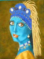 BELLY DANCER WITH A PEARL EARRING
