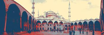 mosque in turkey art