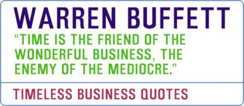 Timeless Business Quotes, Warren Buffett