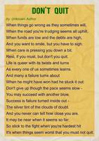Motivational Poem - Do not Quit