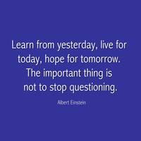 Albert Einstein Famous Quote in  Blue