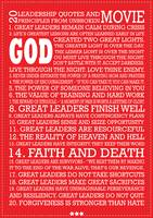 20 Leadership Motivational Principles Poster