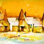 """Gingerbread Cottages"" by valzart"