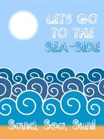 Lets go to the sea-side Minimalist Poster thumbs