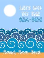 Lets go to the sea-side Minimalist Poster