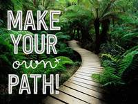 Make Your Own Path Motivational Poster thumb