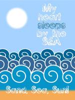 My heart sleeps by the sea Minimalist Poster thumb