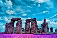 Stonehenge in the English county of Wiltshire IR