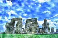 Stonehenge in the English county of Wiltshire Wate