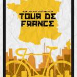 """Tour De France 2015 Minimalist Poster 5 sml"" by motionage"