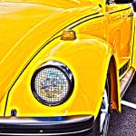 """Yellow VW Beetle Volkswagen"" by brianraggatt"