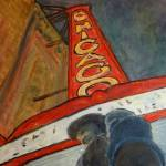 """Night on the town, Chicago Theater"" by LeonSarantosArtist"