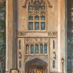 """Cobb Hall, UChicago"" by LeonSarantosArtist"