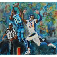 Touchdown Reception Art Prints & Posters by David Noah Giles