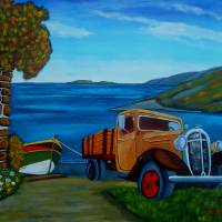 Hauling Up The Boat Art Prints & Posters by Anthony Dunphy