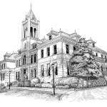 """Madison FineArts Center Pen and Ink"" by Tim"