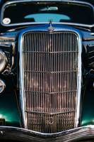 Vintage Ford customized coupe front grill