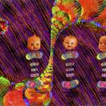 """BIRTHDAY BALLOONS 2 Dolls"" by ecolosimo"