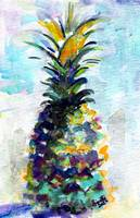 Blue Pineapple by Ginette