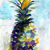 Blue Pineapple by Ginette Art Prints & Posters by Ginette Callaway