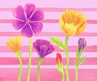 Flower Painting For Baby Room I