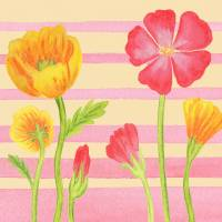 Flower Painting For Baby Room II Art Prints & Posters by Irina Sztukowski