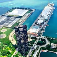 Navy Pier by Helicopter