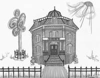 Victorian House in GrayTones