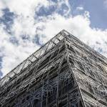 """metal_wrap_building_paris"" by davidhowell"