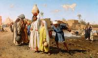 Leopold Carl Müller (1834 - 1892) Egyptian Water C