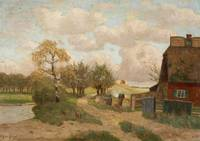 Paul Muller-Kaempff, A NORTH GERMAN LANDSCAPE WITH