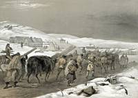 William Simpson - Crimean War - Huts and Warm Clot