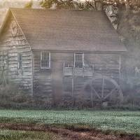 Foggy Morning Mill Art Prints & Posters by Richard Bean