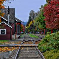 Issaquah Train Station Art Prints & Posters by Kirt Tisdale