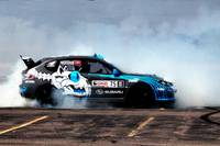 Smoky Drift in a Subaru Rally Car