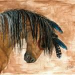 """Pinto Curly Horse"" by AmyLynBihrle"