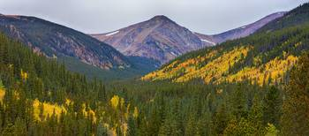 St Mary's Glacier Area Autumn Panorama